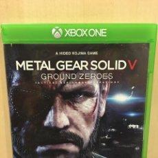 Xbox One: METAL GEAR SOLID V GROUND ZEROES - XBOX ONE (2ª MANO - BUENO). Lote 288427908