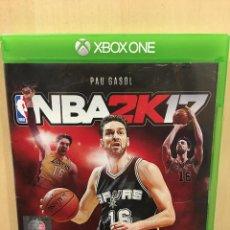 Xbox One: NBA 2K17 - XBOX ONE (2ª MANO - BUENO). Lote 288427933